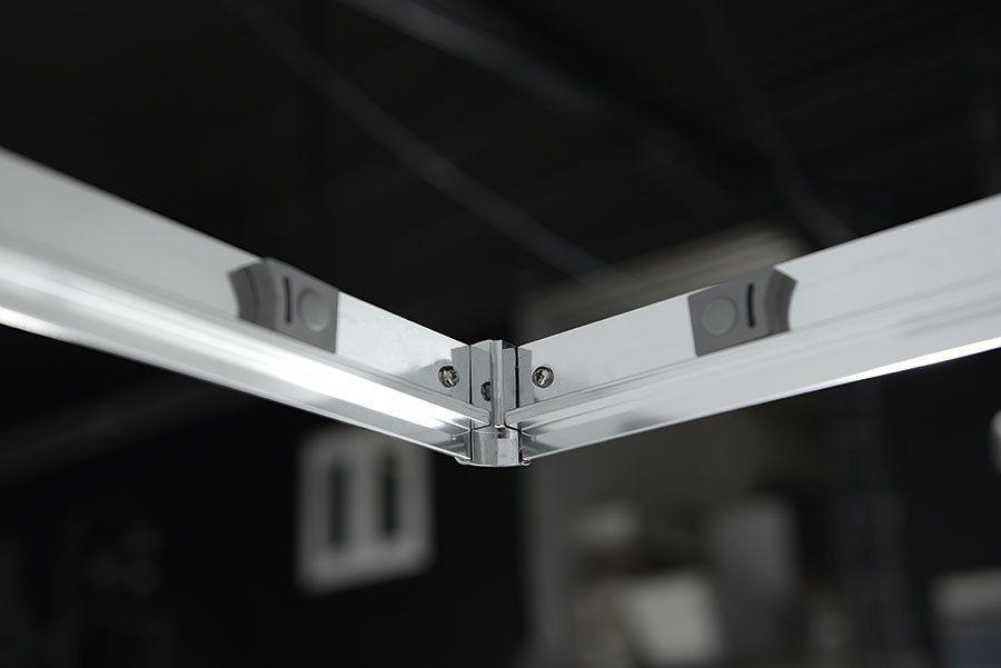 AQUALINE - ARLETA čtvrtkruhová sprchová zástěna 900x900mm, čiré sklo (HLS900)