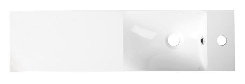 SAPHO - AGOS umyvadlo 80x22cm, litý mramor, bílá, levé/pravé (AS080)