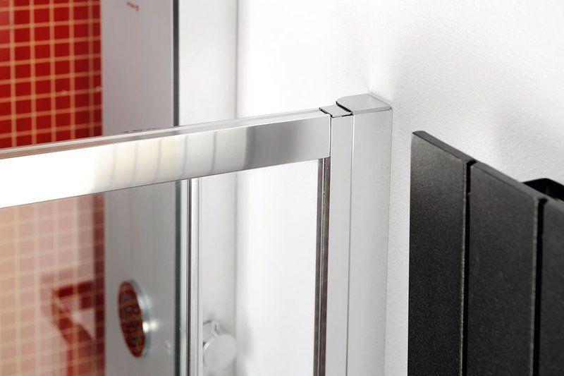 POLYSAN - LUCIS LINE čtvrtkruhová sprchová zástěna, 900x900mm, R550, čiré sklo (DL2615)