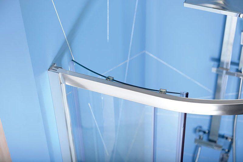 POLYSAN - EASY LINE čtvrtkruhová sprchová zástěna 800x800mm, L/R, čiré sklo (EL2515)