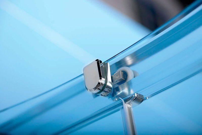 POLYSAN - EASY LINE čtvrtkruhová sprchová zástěna 900x900mm, L/R, čiré sklo (EL2615)