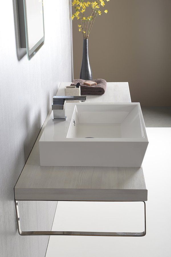 SAPHO - AVICE deska 160x50cm, dub starobílý (AV165)