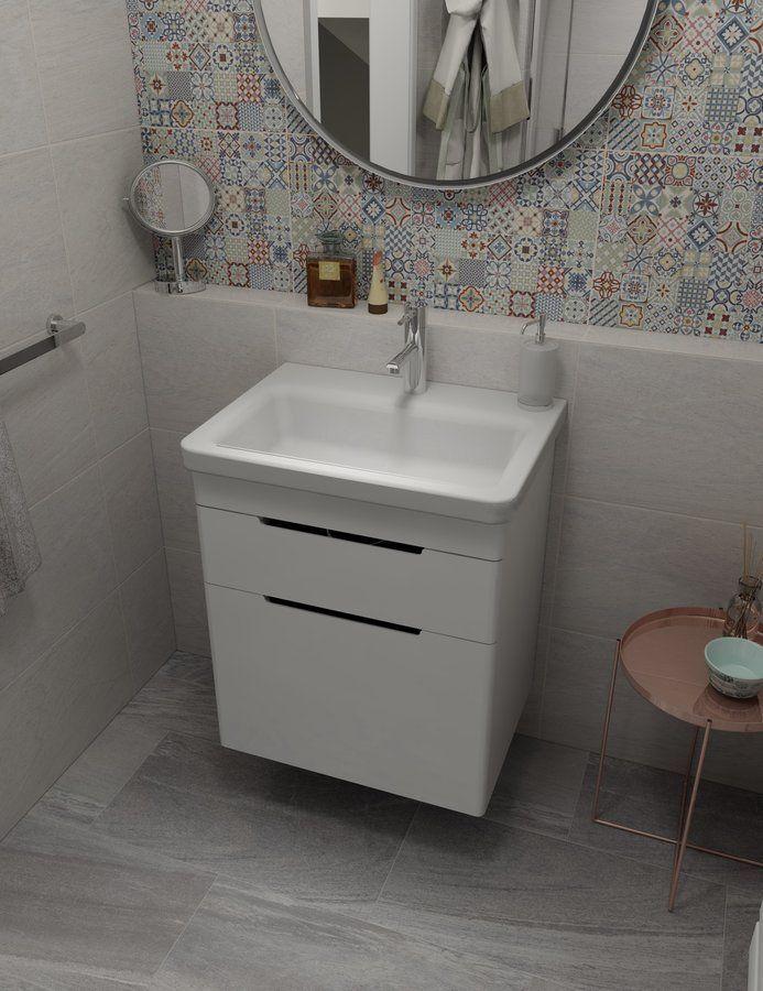 SAPHO - CITY keramické umyvadlo hranaté 60x18x45cm (KE060)