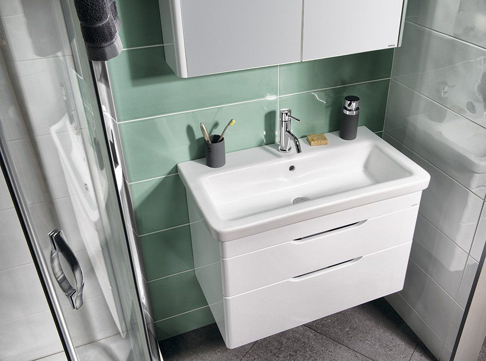 SAPHO - CITY keramické umyvadlo hranaté 80x18x45cm (KE080)