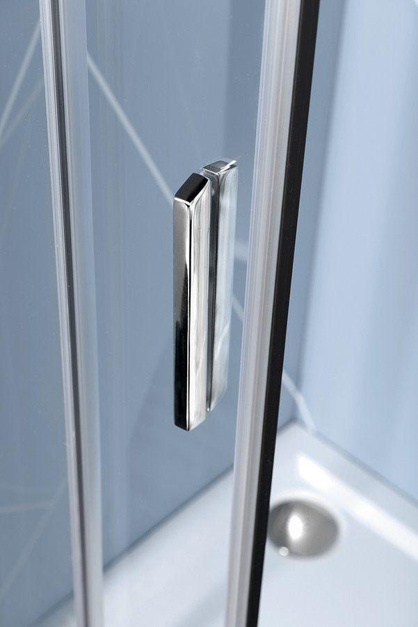 POLYSAN - EASY LINE čtvrtkruhová sprchová zástěna 1000x800mm, L/R, čiré sklo (EL2915)