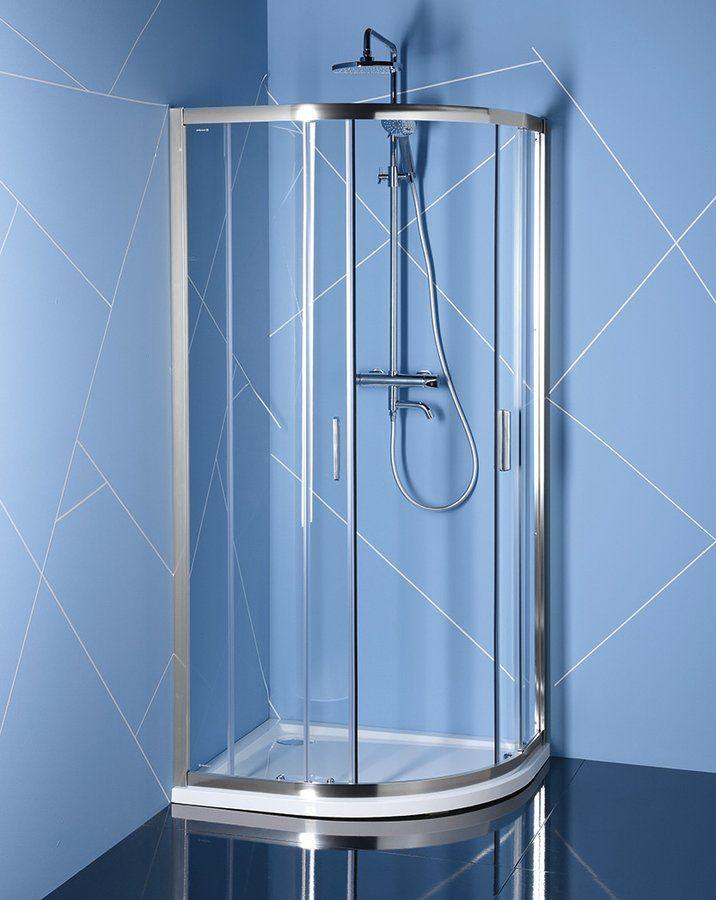 POLYSAN - EASY LINE čtvrtkruhová sprchová zástěna 1200x900mm, L/R, čiré sklo (EL2715)