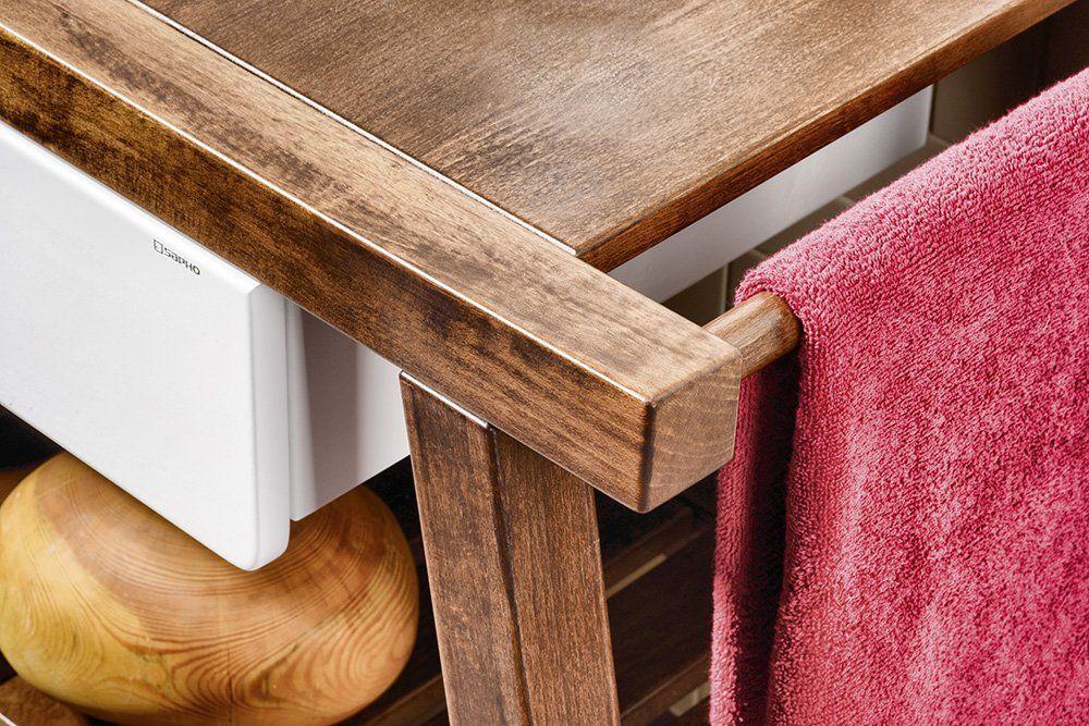 SAPHO - PRIM umyvadlová skříňka 92x72x50cm, buk/bílá (PM095)