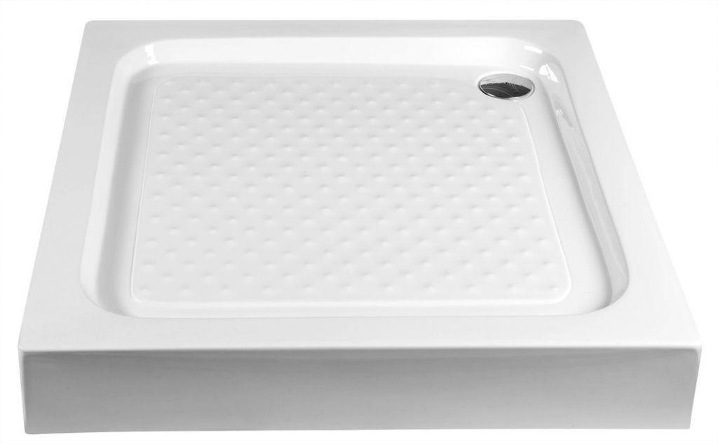 AQUALINE - Sprchová samonosná vanička akrylátová, čtverec 90x90x15 cm (BTTQ90)