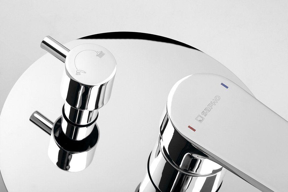 SAPHO - KAI podomítková sprchová baterie, 2 výstupy, otočný přepínač, chrom (KA43)