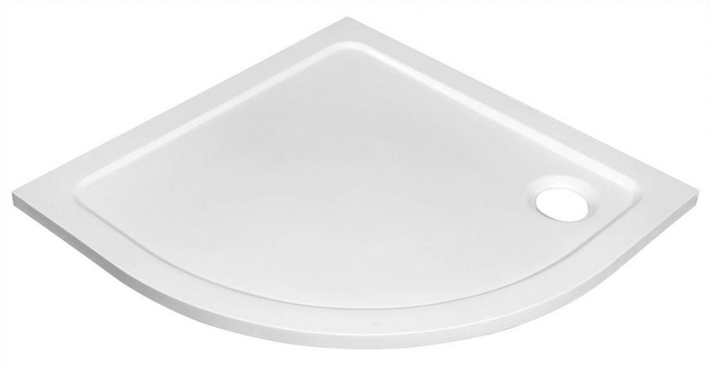AQUALINE - TECMI sprchová vanička z litého mramoru, čtvrtkruh 80x80x3 cm, R55 (PQ558)