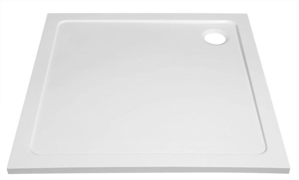 AQUALINE - TECMI sprchová vanička z litého mramoru, čtverec 80x80x3 cm (PQ008)