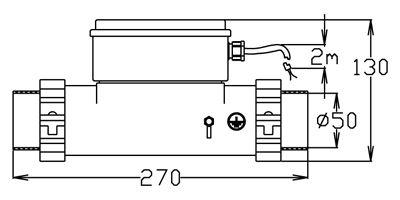 POLYSAN - Dohřev teploty lázně bez možnosti vypnutí, 1,5 kW, var. P, L, Z (124055)