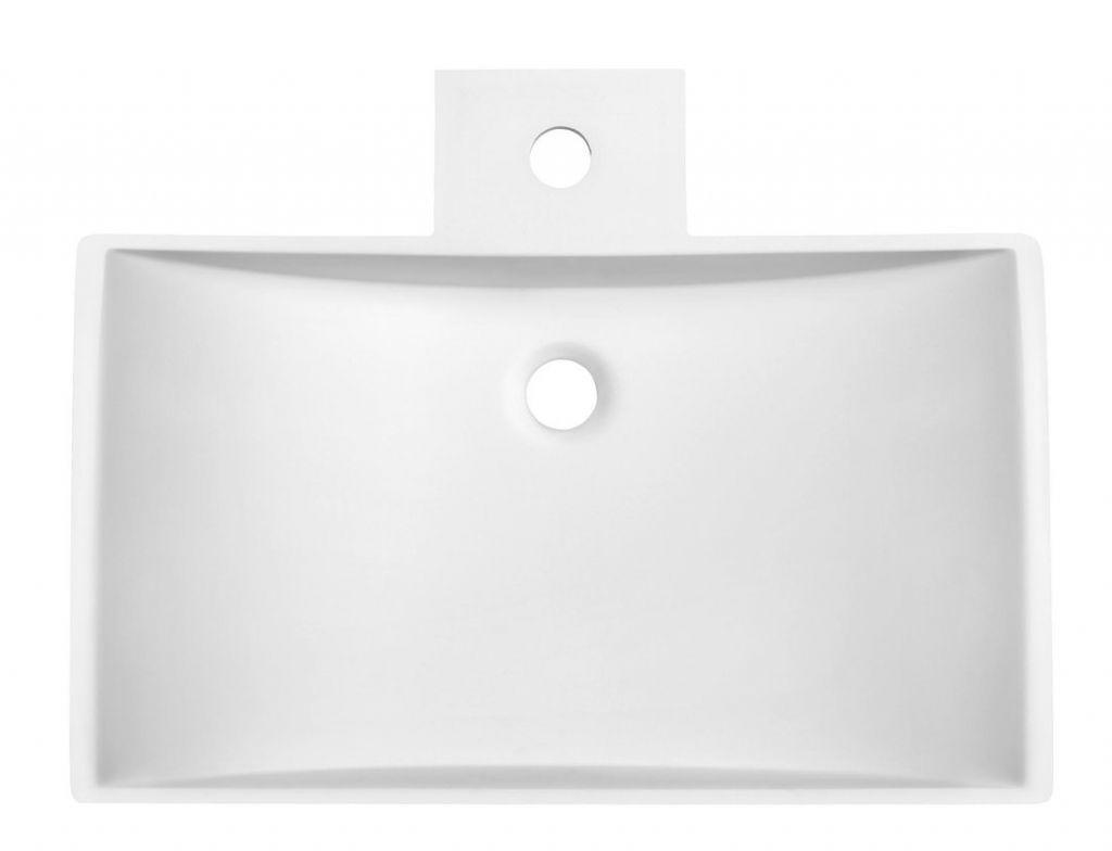 SAPHO - QUINTET umyvadlo na desku, 597x150x455 mm, bílá mat (VK130)