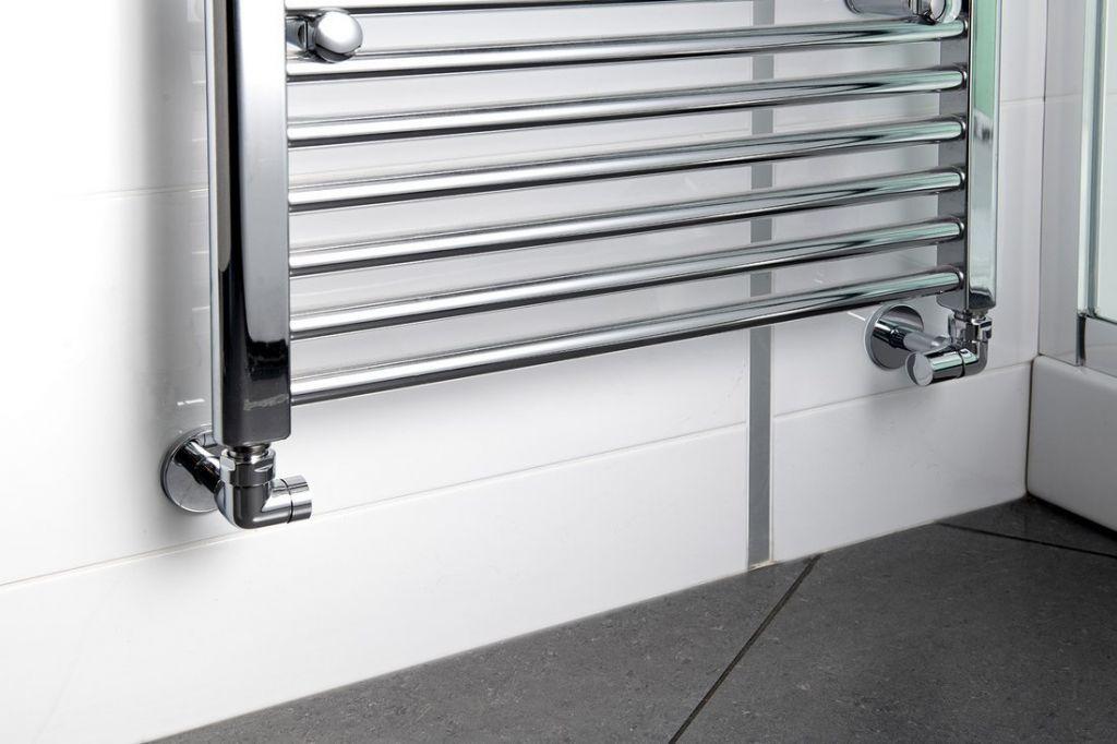 SAPHO - CORNER SIMPLY připojovací sada ventilů triaxiální, PRAVÉ provedení, chrom (CP130)