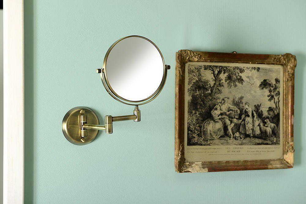 SAPHO - Kosmetické zrcátko zvětšovací, oboustranné, bronz (XP012)