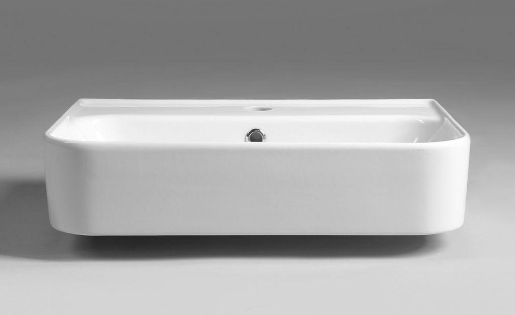 ISVEA - SISTEMA U keramické umyvadlo 55x38 cm, bílá (10PL53055)