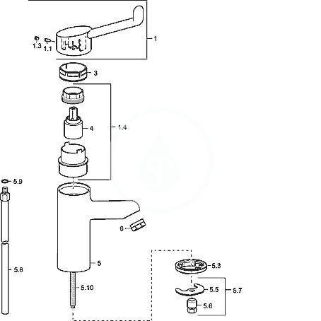 HANSA - Medipro Páková umyvadlová baterie bezpečnostní, chrom (01712192)