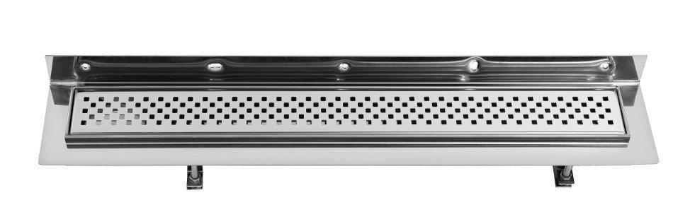 SAPHO CORNER 77 nerezový sprchový kanálek s roštem, ke zdi 770x130x82 mm FP412