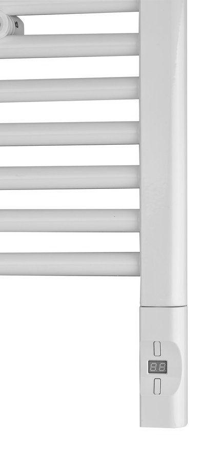 SAPHO Elektrická topná tyč s termostatem a dálkovým ovládáním, 900 W, D-tvar, bílá HVD-900