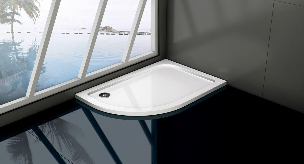 HOPA asymetrická čtvrtkruhová sprchová vanička VENETS Rozměr A 120 cm, Rozměr B 80 cm, Způsob provedení Levá VANKASCTVR8012L