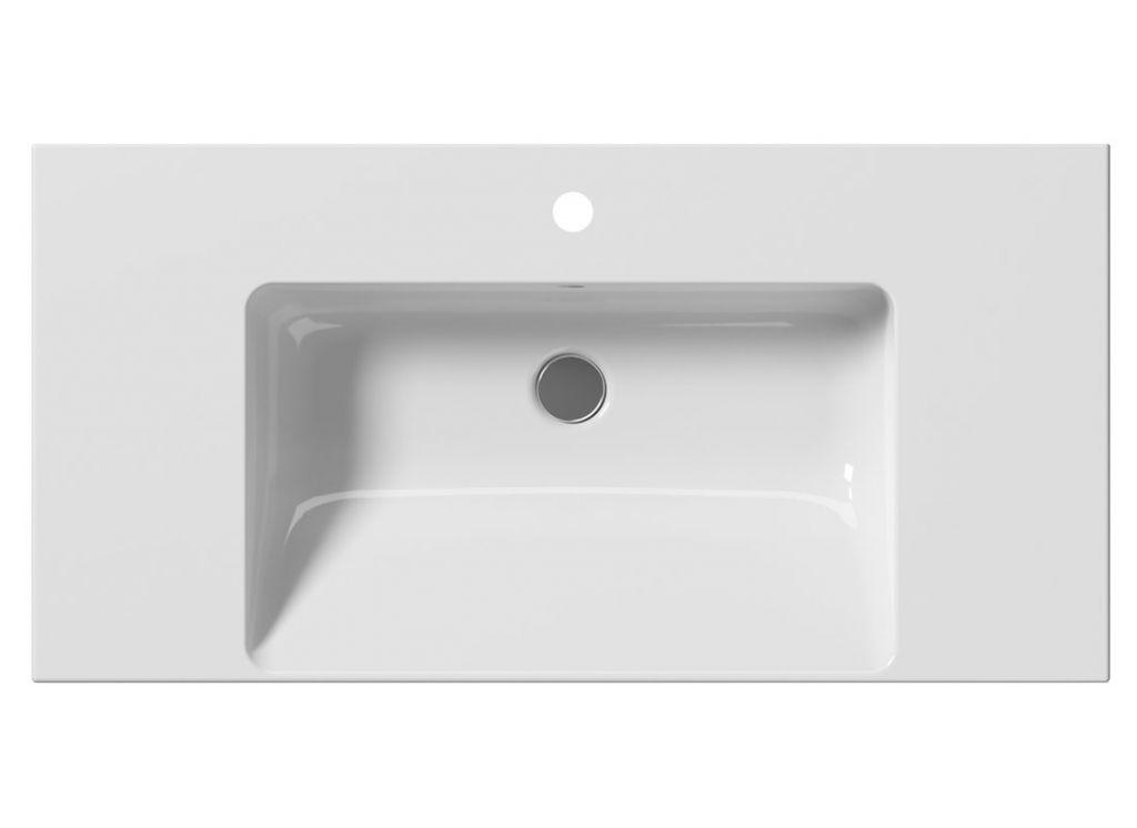 GSI - NORM keramické umyvadlo 100x18x50 cm, bílá ExtraGlaze (8633111)