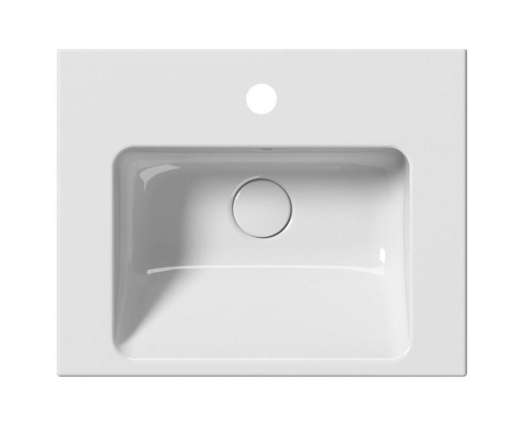 GSI - NORM keramické umyvadlo 50x18x40 cm, bílá ExtraGlaze (8638111)