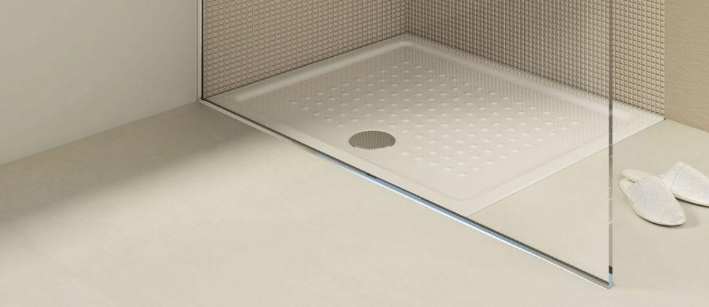 GSI - Keramická sprchová vanička, obdélník 100x80x4,5 cm (438511)