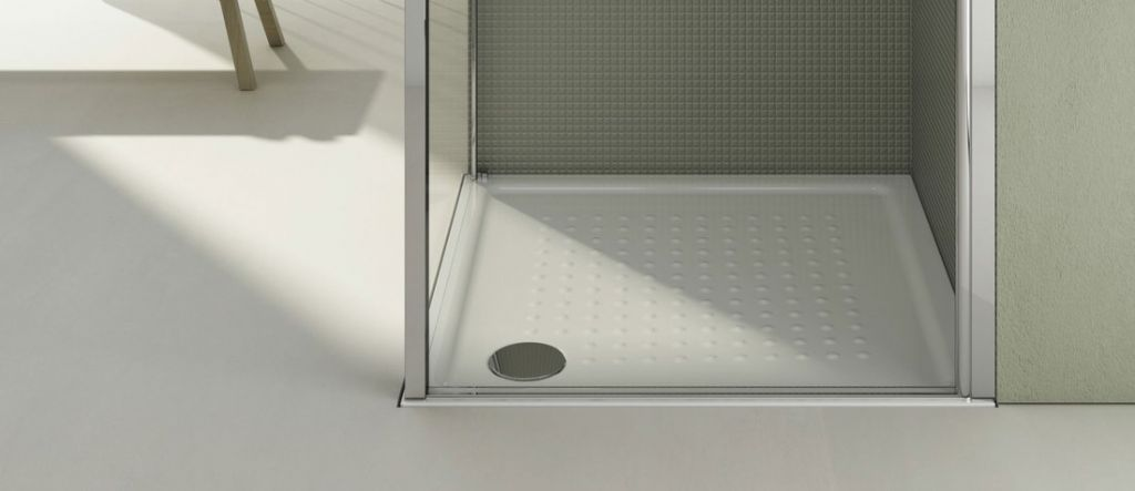 GSI - Keramická sprchová vanička, čtverec 90x90x4,5 cm (439411)