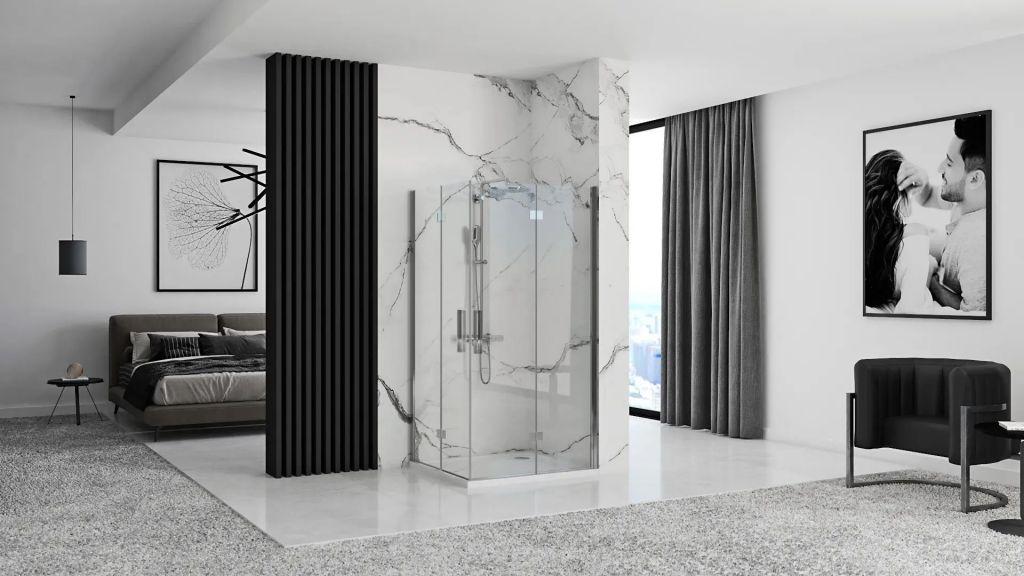 REA/S - Sprchový kout MOLIER dveře/dveře 90X90 (MOLDD090090)