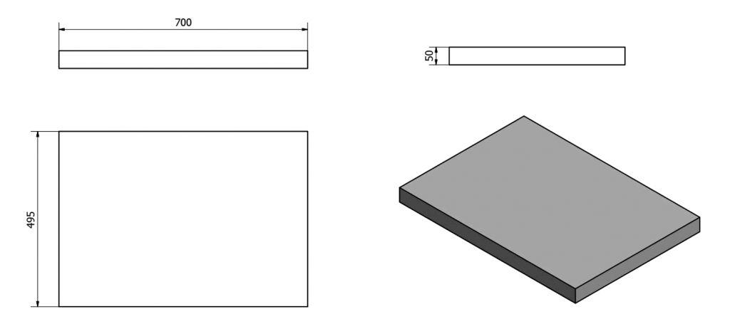 SAPHO - AVICE deska 70x50cm, dub Rover (AV074)