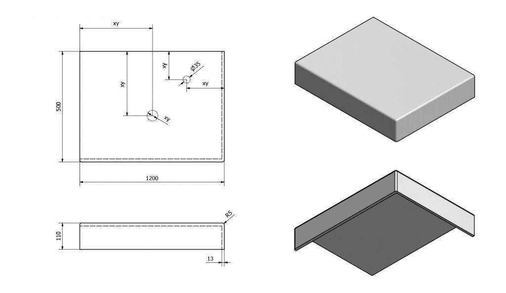 SAPHO - TAILOR rockstone deska 120x50 cm, provedení límce R (TR120R)