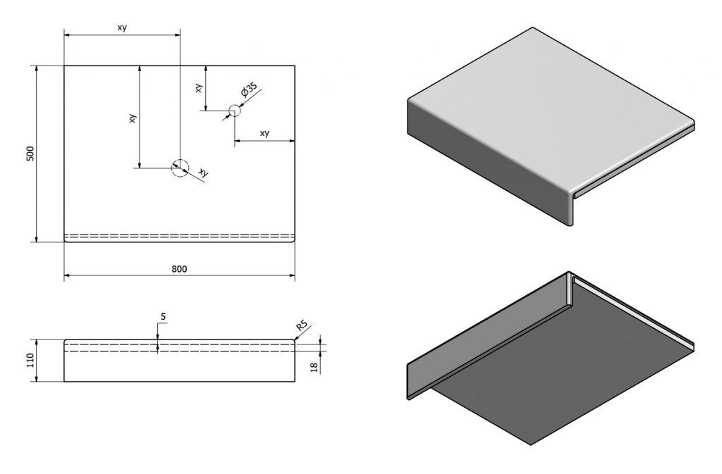 SAPHO - KIRA ceramica deska 80x50 cm, provedení límce F (KR080F)