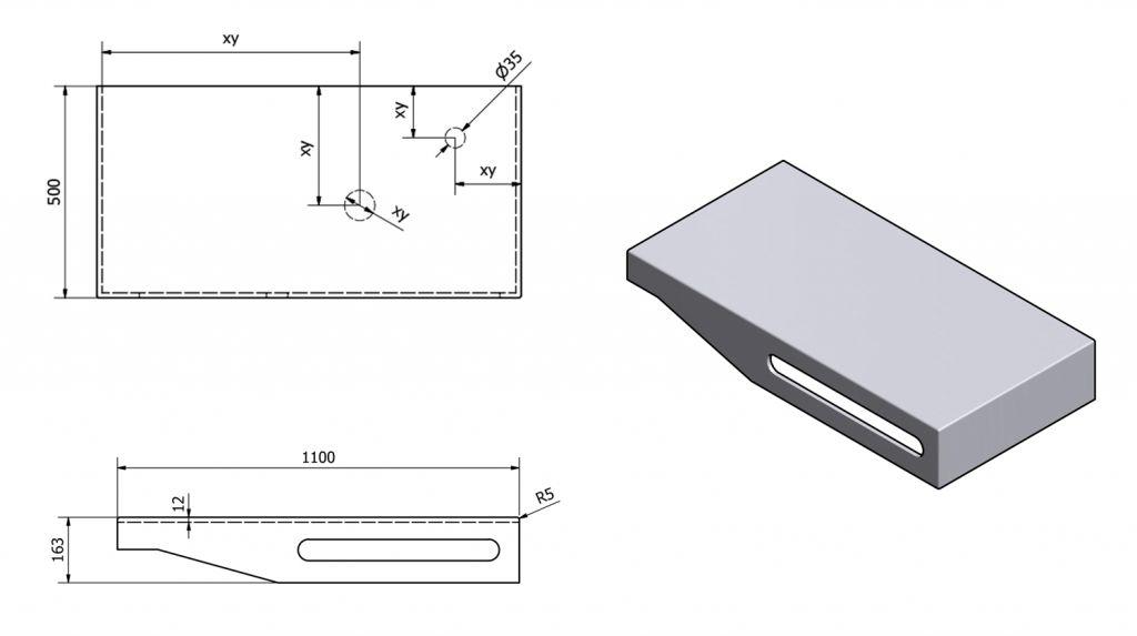 SAPHO - TAILOR+ rockstone deska 110x50 cm, límec R, držák ručníku vpravo (TRP110R)