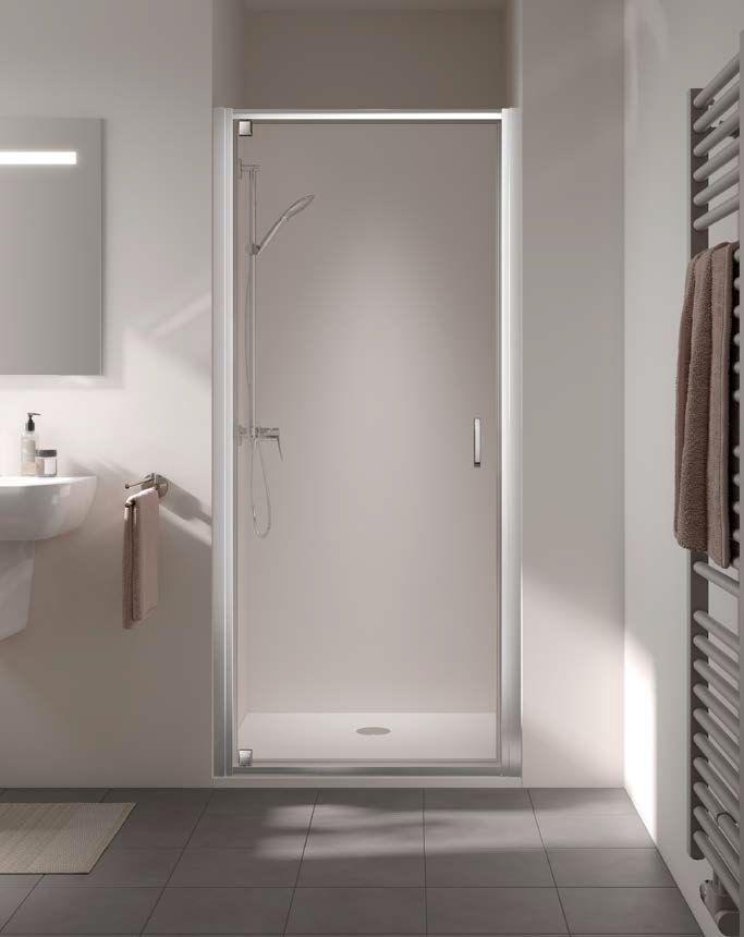 Kermi STINA sprchové dveře kyvné 1WP 1000 x 1950 mm sklo čiré Clean ST1WP10019VPK ST1WP10019VPK