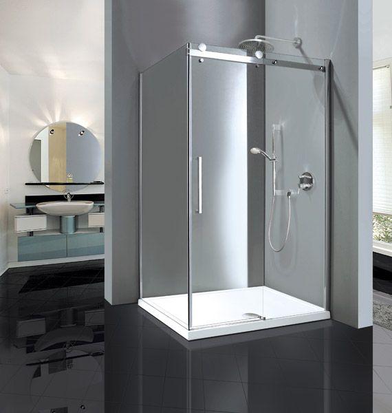 Aquatek - TEKNO R33 Chrom Luxusní sprchová zástěna obdélníková 120x90cm, sklo 8mm, výška 210 cm, varianta pravá (TEKNOR33-112)