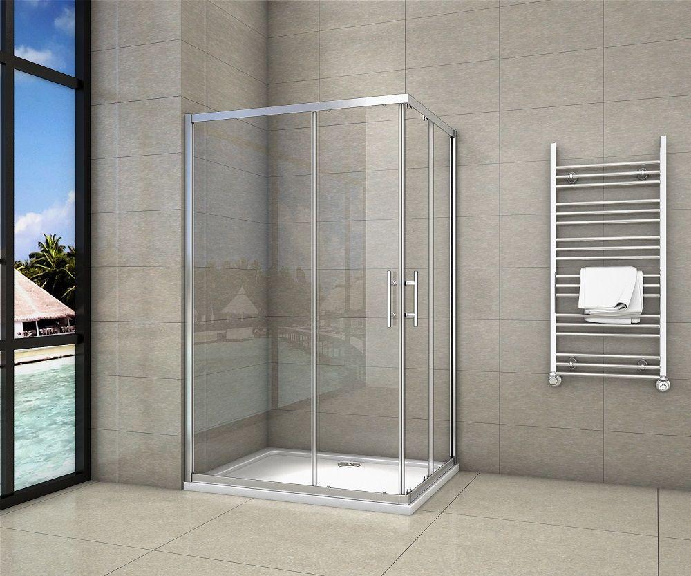 H K Sprchový kout čtvercový, SIMPLE 70x70 cm L/P varianta, rohový vstup včetně sprchové vaničky z li