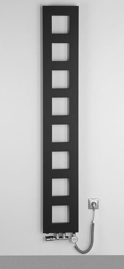 SAPHO - BLOCK otopné těleso 280x1750 mm, černá mat (IR182)