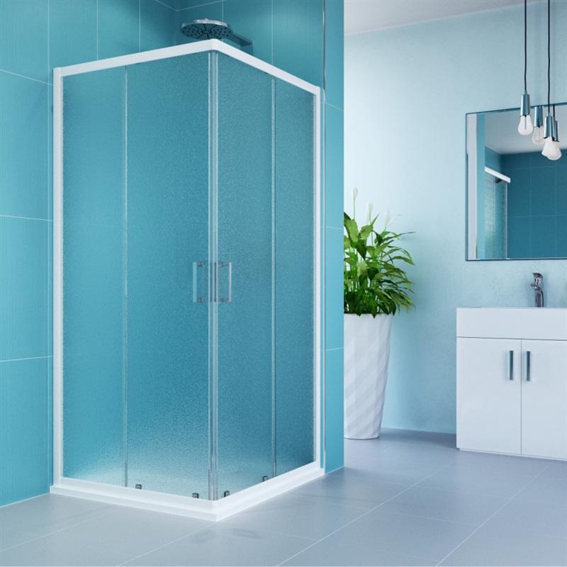 MEREO Sprchový set: sprchový kout, 90 cm, bílý ALU, sklo Grape, SMC vanička CK34101HN