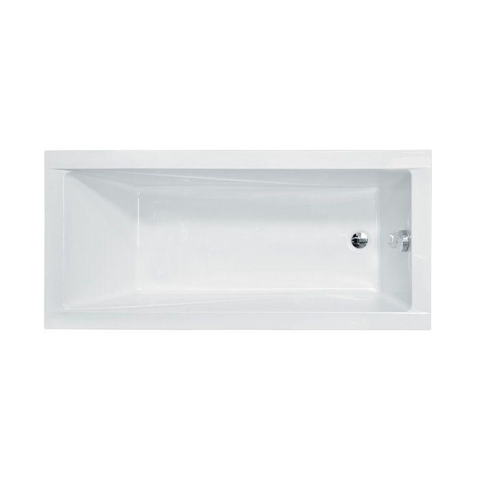 Akrylátová obdélníková vana Modern 170 (170x70x39 cm   objem: 168 l)   Besco MODERN170X70