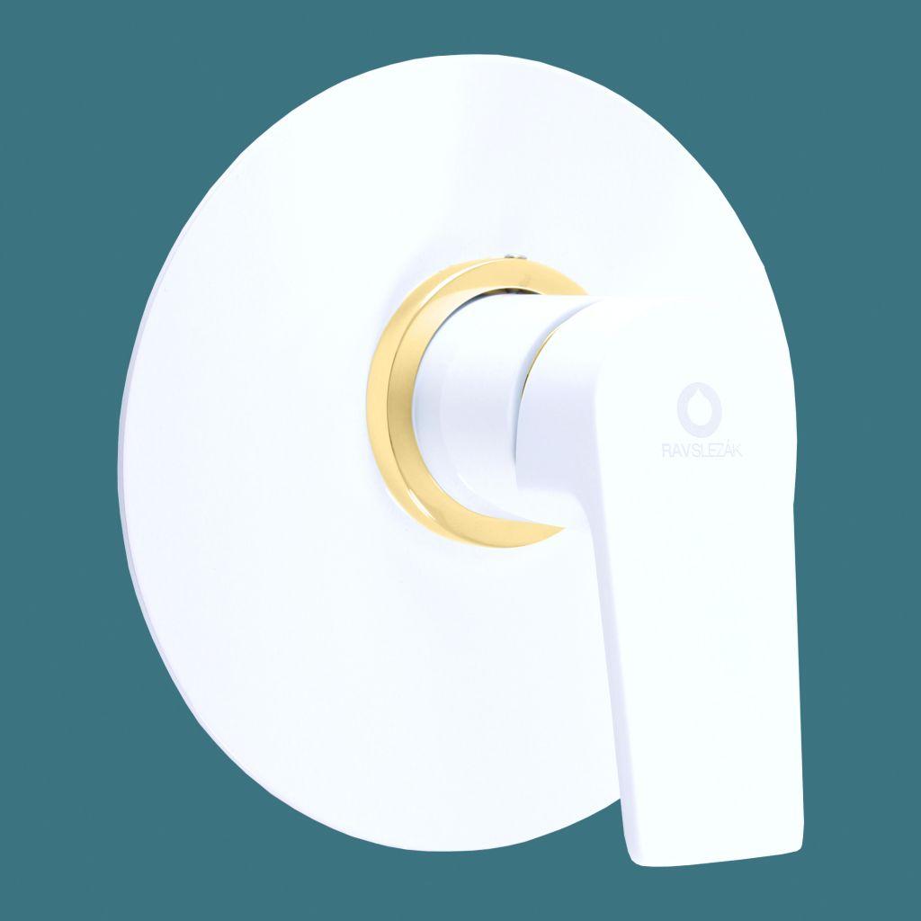 SLEZAK-RAV - Baterie sprchová vestavěná COLORADO bílá/zlato, Barva: bílá/zlato (CO183LBZ)
