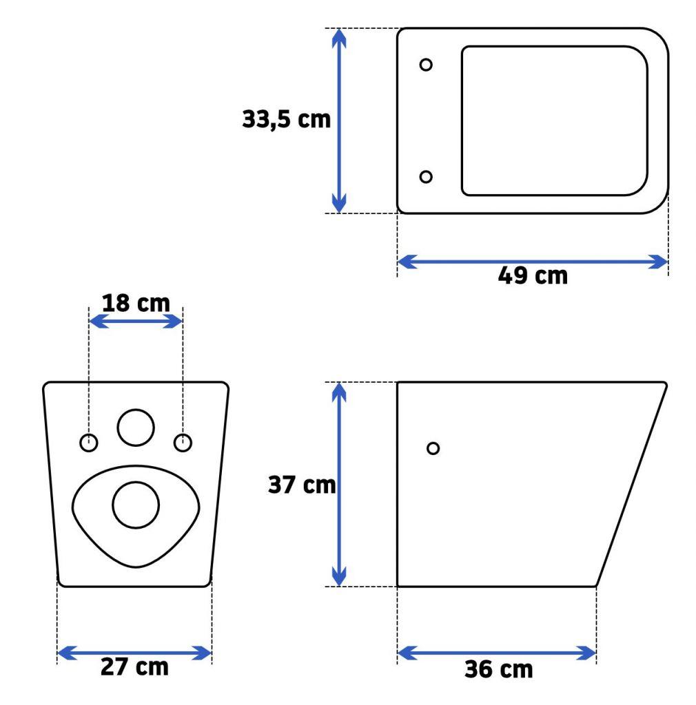 Rapid SL pro závěsné WC 38528SET s chromovou deskou + WC REA  Raul Rimless + SEDÁTKO (38772001 RA1)