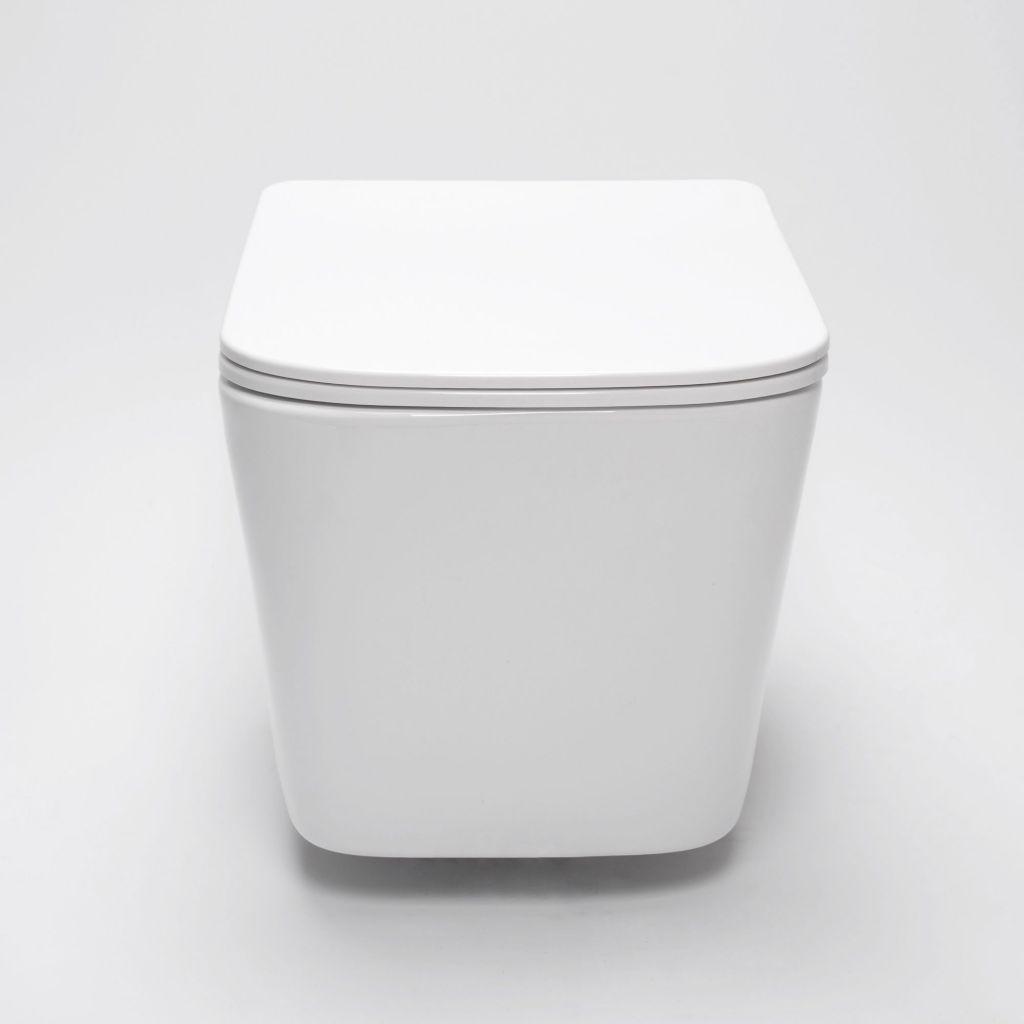ALCAPLAST  Sádromodul - předstěnový instalační systém s bílým/ chrom tlačítkem M1720-1 + WC REA  Raul Rimless + SEDÁTKO (AM101/1120 M1720-1 RA1)