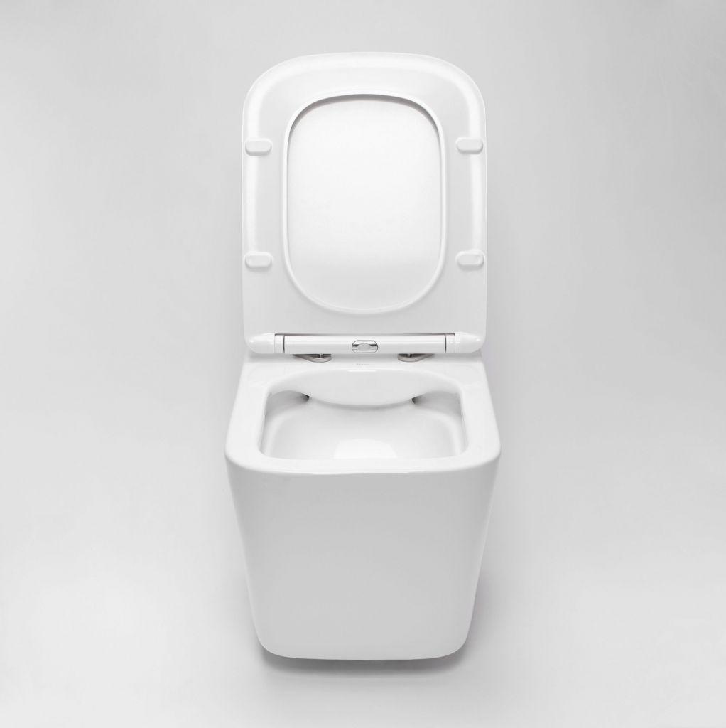 ALCAPLAST  Jádromodul - předstěnový instalační systém s bílým tlačítkem M1710 + WC REA  Raul Rimless + SEDÁTKO (AM102/1120 M1710 RA1)