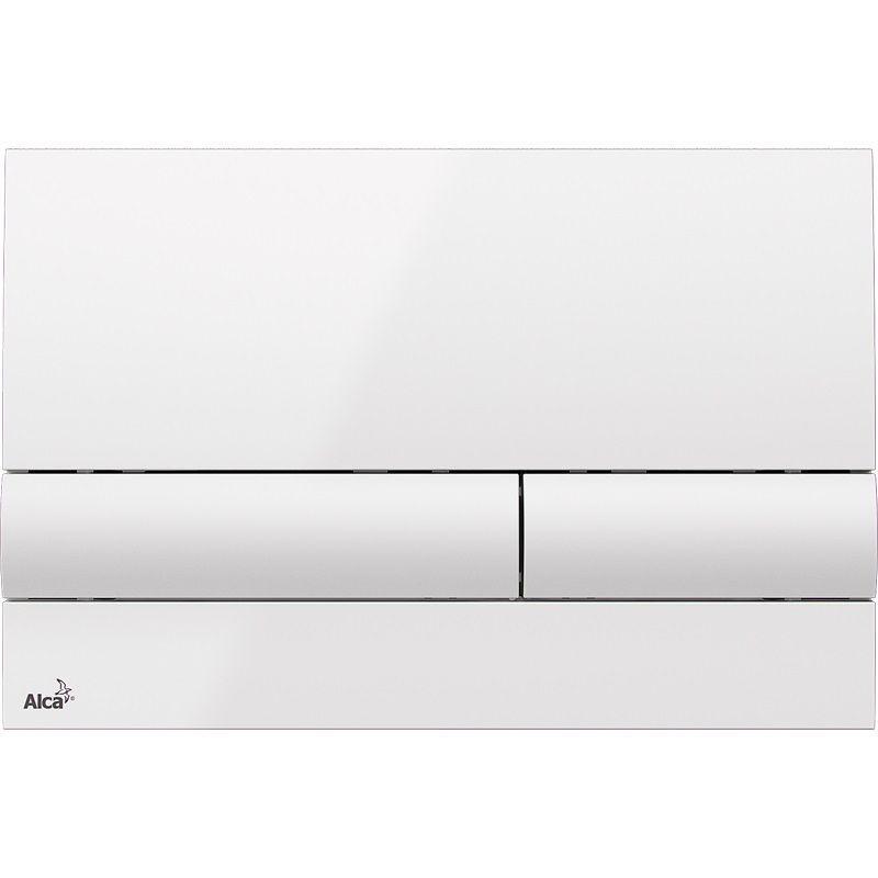 ALCAPLAST  Renovmodul - předstěnový instalační systém s bílým tlačítkem M1710 + WC REA  Raul Rimless + SEDÁTKO (AM115/1000 M1710 RA1)