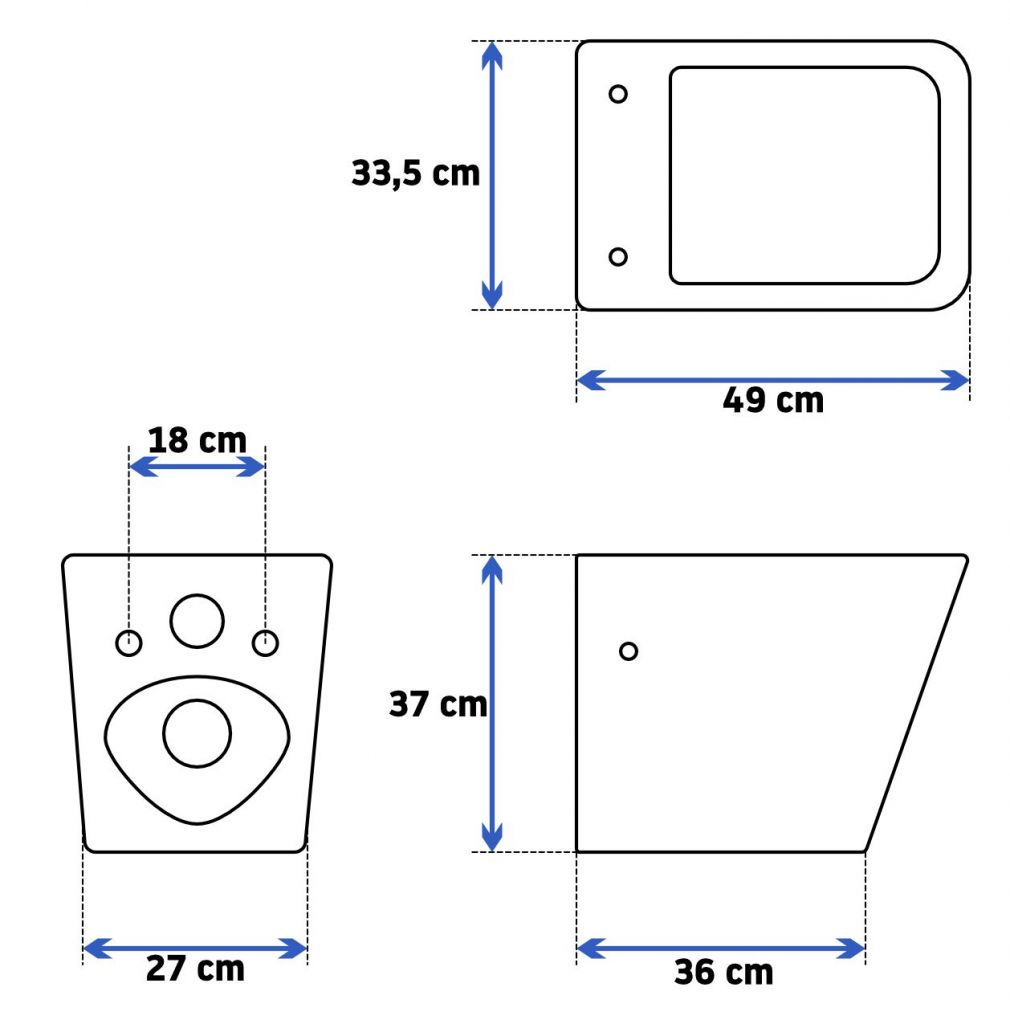 LAUFEN Podomít. systém LIS TW1 SET s chromovým tlačítkem + WC REA  Raul Rimless + SEDÁTKO (H8946630000001CR RA1)