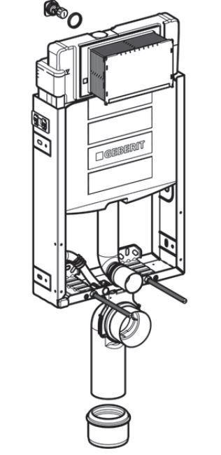 GEBERIT KOMBIFIX ECO, nádržka UP 320 bez ovládací desky + WC REA CARLO MINI RIMLESS ČIERNY MAT + SEDADLO (110.302.00.5 MM1)