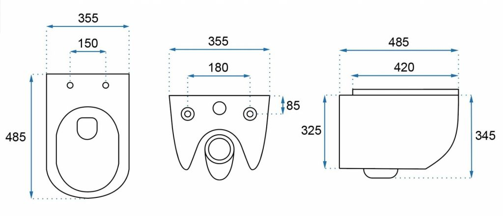 GEBERIT Duofix bez ovládací desky + WC REA CARLO MINI RIMLESS ČIERNY MAT + SEDADLO (111.300.00.5 MM1)