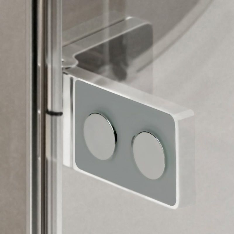 MEREO - Sprchový kout, Novea, obdélník, 80x120 cm, chrom ALU, sklo Čiré, dveře levé a pevný díl (CK10117ZL)