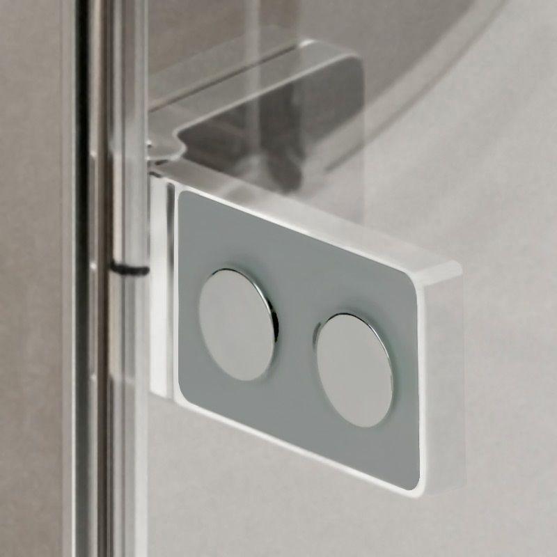 MEREO - Sprchový kout, Novea, obdélník, 100x120 cm, chrom ALU, sklo Čiré, dveře levé a pevný díl (CK10317ZL)
