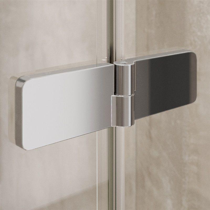 MEREO - Sprchový kout, Novea, čtverec, 120x120 cm, chrom ALU, sklo Čiré, dveře levé a pevný díl (CK10417ZL)